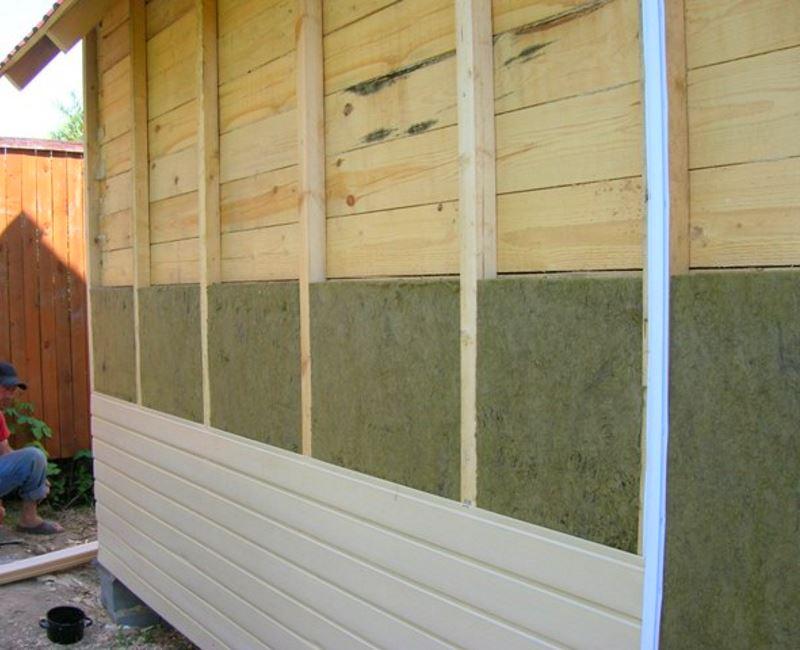 Утепление стен террасы