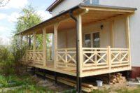 Как пристроить веранду к деревянному дому